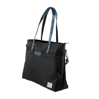 AMINAH-blue lightweight shoulder tote bag [am-0306]