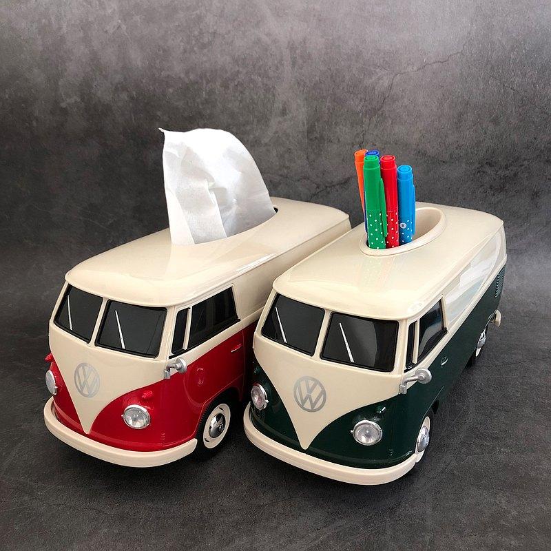 【獨家販售】復古經典1:16 VW T1 Bus車型收納盒雙色别注版套裝