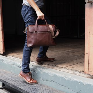 Graham (Dark choco) : Cross-body bag, Genuine leather, Messenger bag