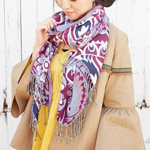 [Pre-order] Eastern European Totem Fringed Scarves (two colors) ISAP8147