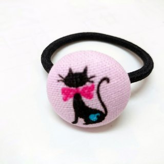 Cloth buckle hair ring ~ cat*SK*