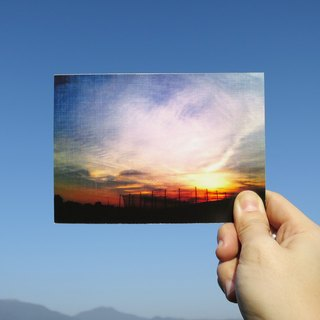 Quietly draw cool card / multifunctional storage postcard / sunset