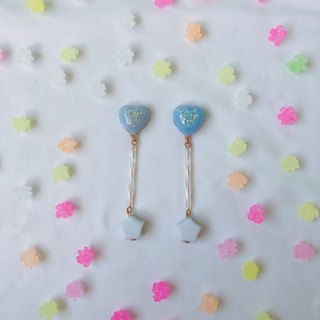 Jin Ping sugar hand made dry flower earrings ear clip ear clip