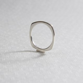 Minimalist geometric arc shaped ring handmade 925 sterling silver ring