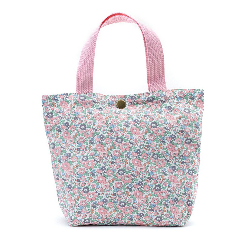 Retro memories floral handmade canvas lunch bag small tote bag small tote brunch can be customized