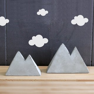 Bare Cement Mountain | Mountain. Decoration / jewelry rack / message board / paper town / business card holder / layout