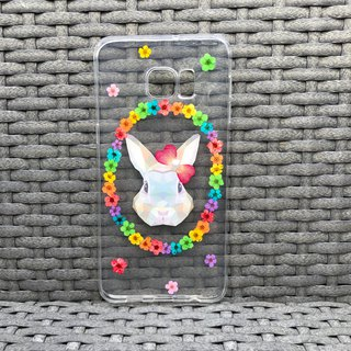 Samsung Galaxy S7 Case Dry Pressed Flowers Colourful Rabbit Flowers cover 002