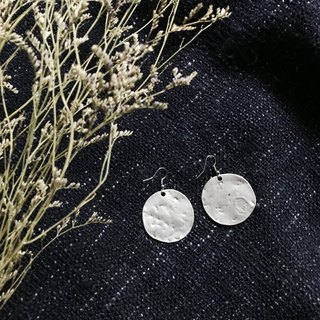 Simple irregular metal disc earrings