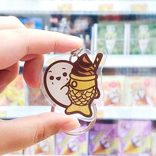 Key ring | Taiyaki ice cream (Japanese Food)