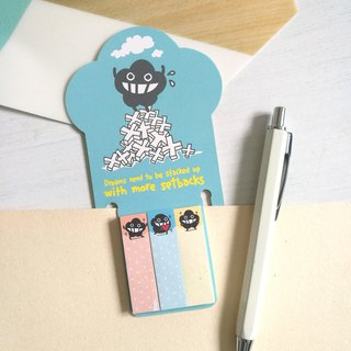 Blue bookmarks with notes