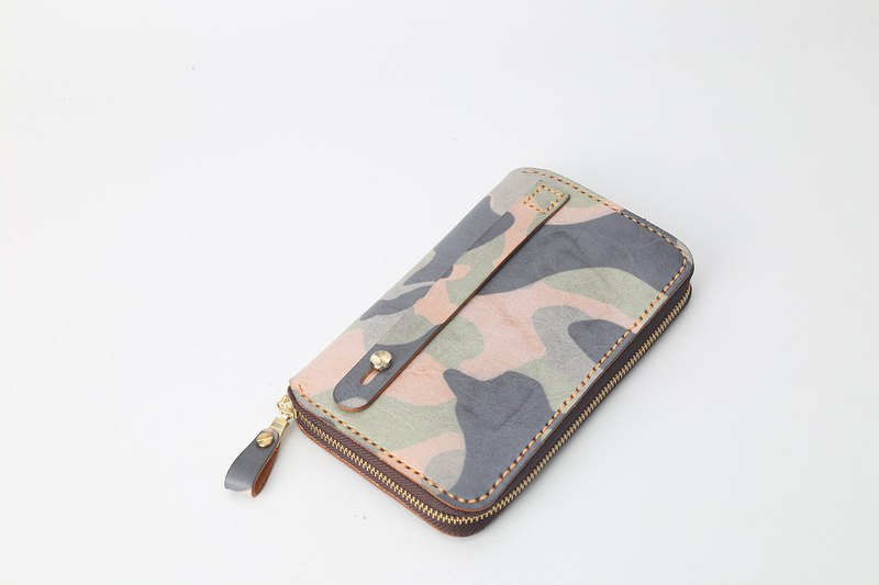 [Customized edition] Men's camouflage clutch bag passport bag