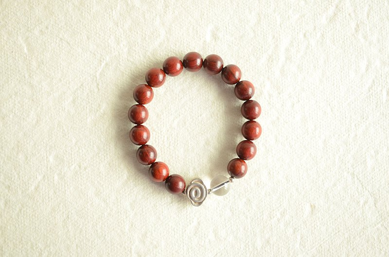 [If Yun knows] Natural Indian Lobular Rosewood Simple Men and Women Bracelet