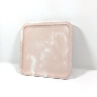 Sakura (pink concrete) - Concrete tray accessory holder in Square shape