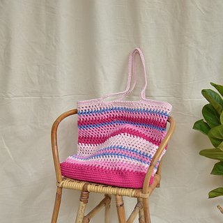 Pink Multia crochet bag