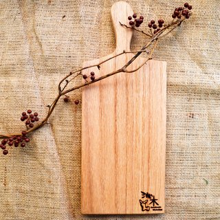 Hand chopping board │ wobble plate, light food │ oak