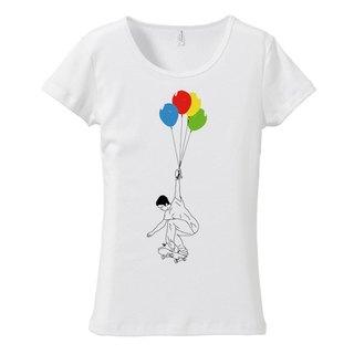[Women's T-shirt] UP (Black & Chrome)