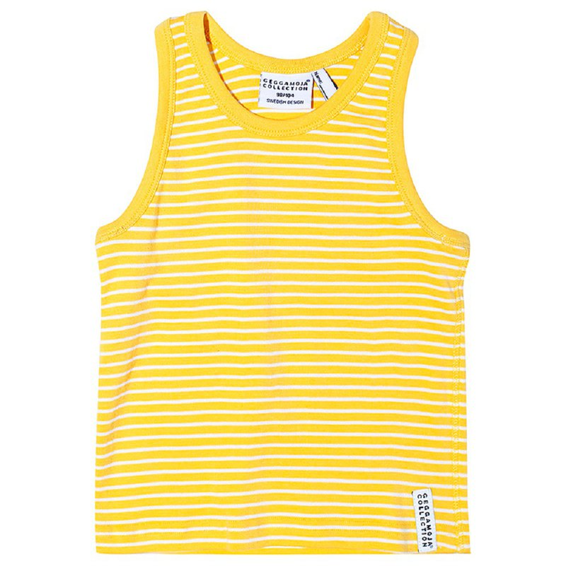 [Nordic children's clothing] Swedish organic cotton vest top 6M to 10 years old yellow