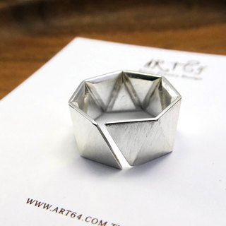 Continued Future Triangle (Large) 925 Silver Ring - 64DESIGN