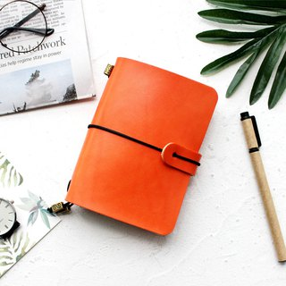 Orange orange leather notebook / diary / travel book / customizable passport this standard a5