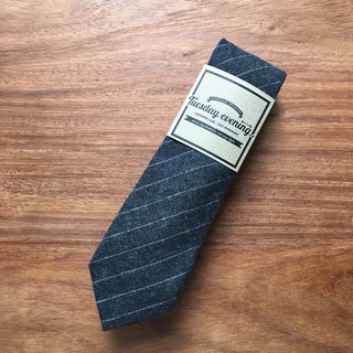 Neck Tie Dark Grey Stripe