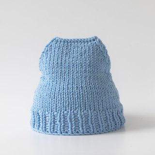 OTB111 Ladder Hand-knitted Cap - Sky Blue