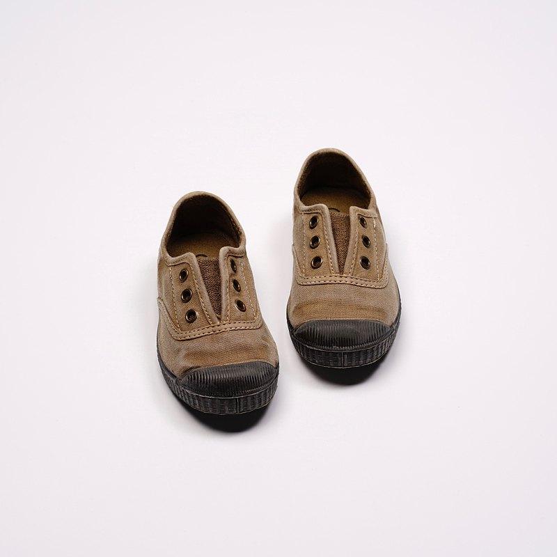 西班牙國民帆布鞋 CIENTA U70777 46 駝色 黑底 洗舊布料 童鞋