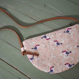 Moon series cross-body bag / mobile phone bag / limited edition handmade bag / cherry finch / out of print