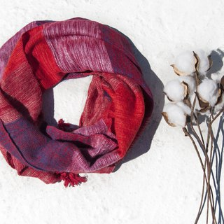 Christmas gift pure wool scarf / handmade knit scarf / woven scarf / pure wool scarf - strawberry grapes