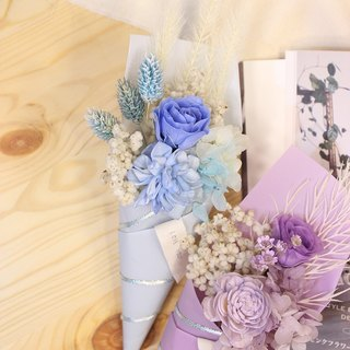 """Quiet exclusive"" ""Blue Ocean"" does not wither Mother's Day bouquet │ │ │ Carnation Dried Flowers Preserved flowers │ │ │ gift"