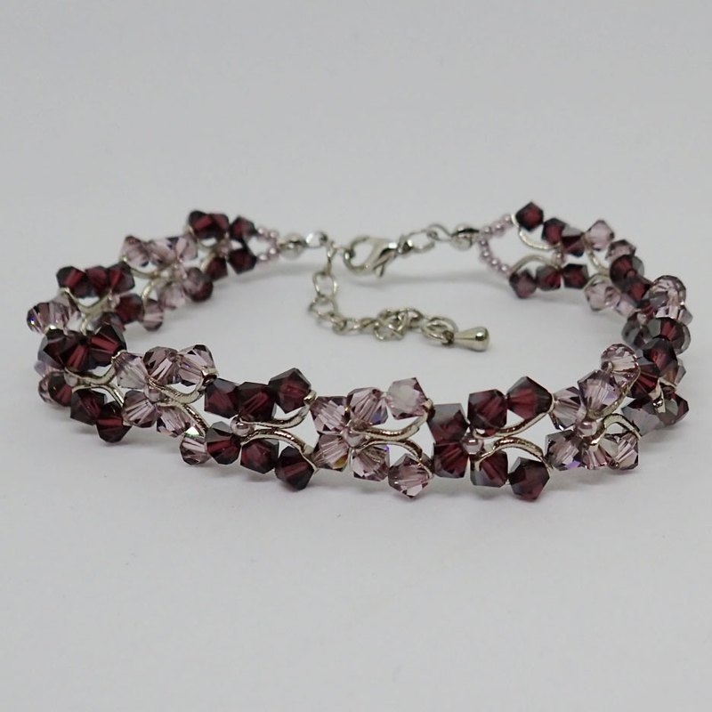 Lightup workshop - bracelet, butterfly, Burgundy SATIN