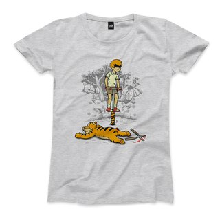 Jumping Tigers - Dark Grey - Female T-shirts
