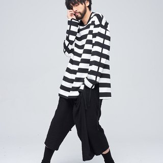 Large horizontal stripes shirt 9109