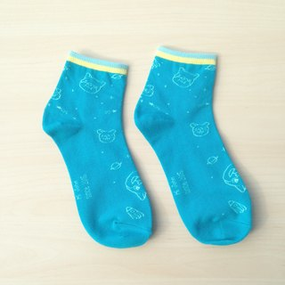 Blue wow | socks
