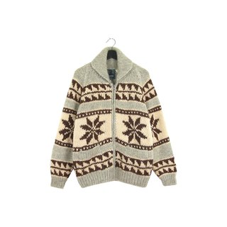 Back to Green Cowboy Knit Coat Snow Cowboy Unisex Vintage Cowichan