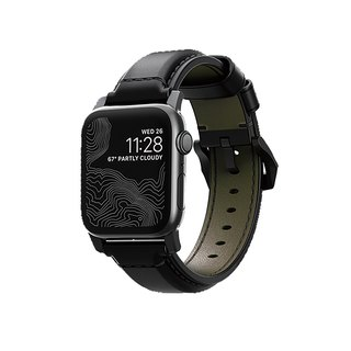 NOMADxHORWEEN AppleWatch Leather Strap - Classic Black 42.44mm (855848007427