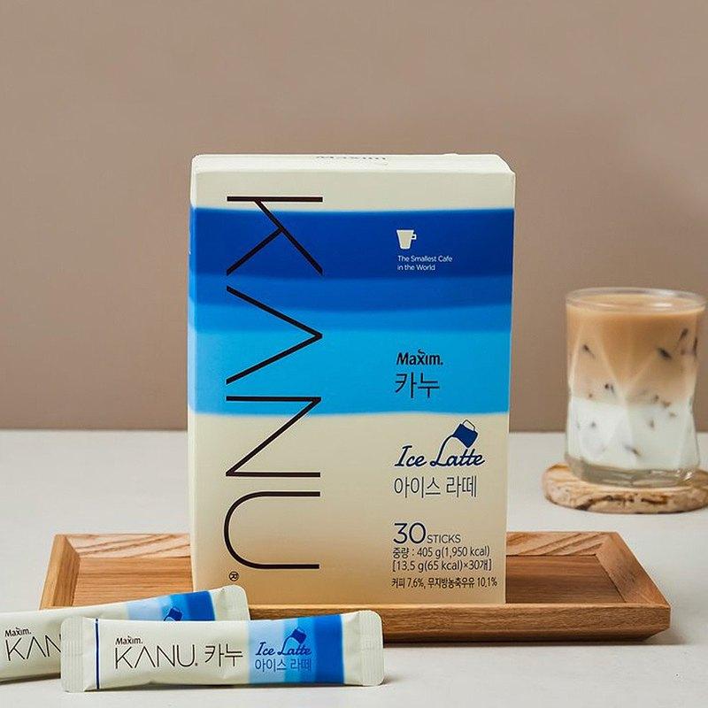 KANU Ice Latte漸層冰拿鐵咖啡 405g(13.5g×30入/盒)
