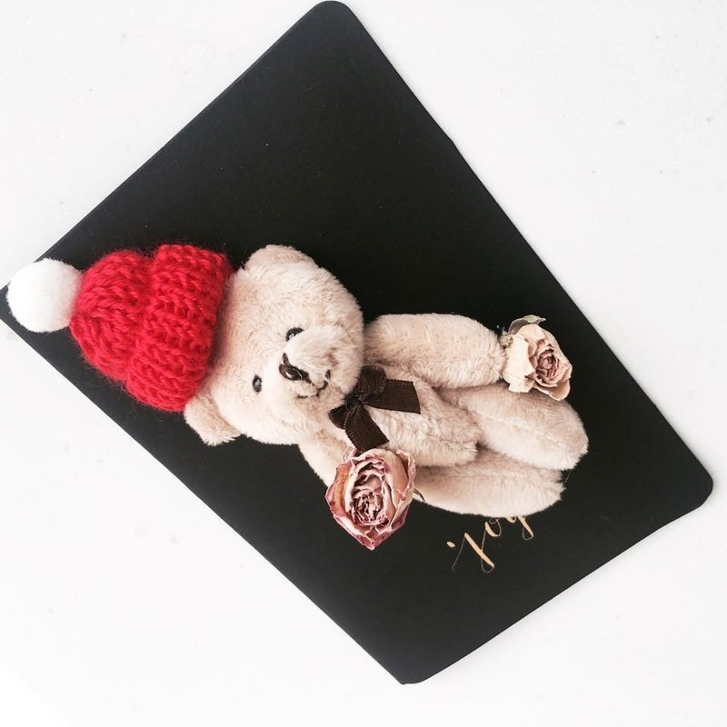 Mini Dry Rose Christmas Baby Card Limited Edition