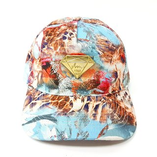 Diamond baseball cap # blue sky leopard tide cap old hat