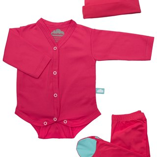 SanBelle 3 Pieces Set ★Anti-bacteria★Preemie Size Pink