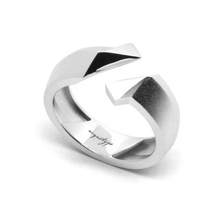 TWIST Ring / White gold (exclusive design jewelry : silver)