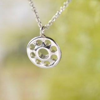 Flower Series/925 Sterling Silver/Necklace/Button