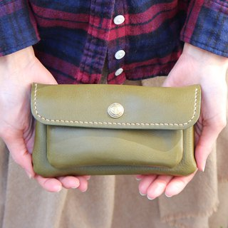 mare-wallet Green Tochigi Leather Purse