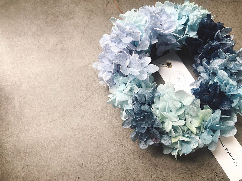 Gradually blooming blue hydrangea wreath (special offer from 999 to 5/31) Mother's Day. Graduation. Gift
