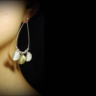 Season-Dancing In Autumn-Drop Hoop Silver Earrings No.2