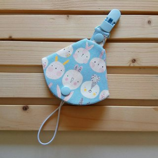 Blue rabbit row station two in one pacifier clip < pacifier dust bag + pacifier clip> dual function 1 into