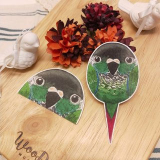 Rolia's hand made small cheek solar parrot waterproof stickers