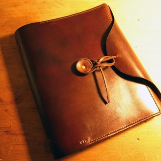 Golden Forest Strap A5 Hand Dyed Sewing Notepad