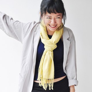 [Note] the age of vegetation dyed cashmere blended scarves - yellow
