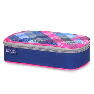 Tiger Family Explorer Simple and Stylish Pencil Box - Blueberry Grid