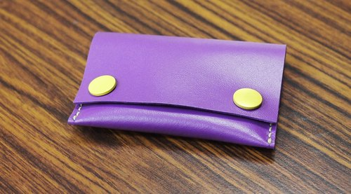 Purple leather hand-sewn purse - the inner layer of high-quality fabric limited leather, finished that stop selling